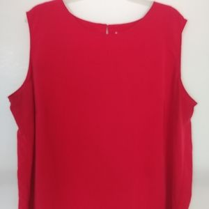 Red 2X Notations Blouse